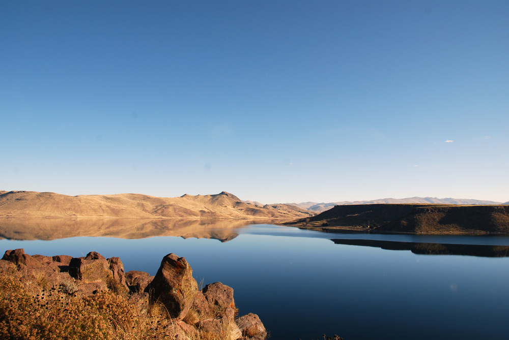 Lake near Sillustani Funeral Towers
