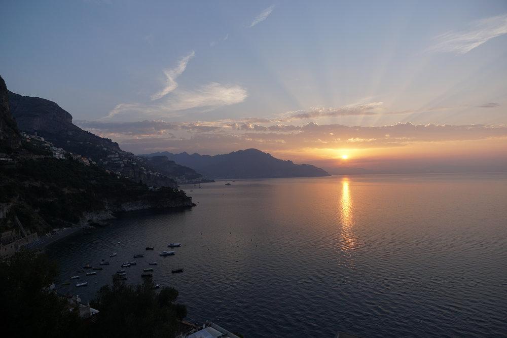 Sunrise from Le Terrazze Hotel in Conca dei Marini