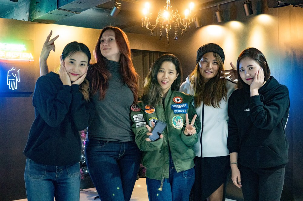 With our nail artist and the one and only Park Eun Kyung!