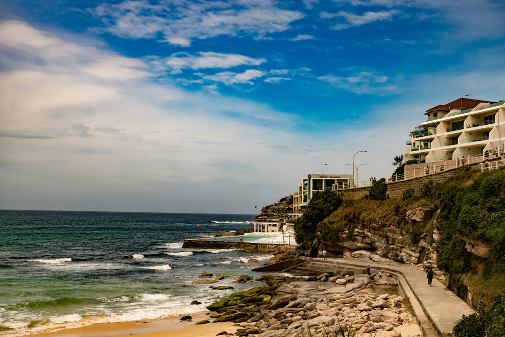 Trailhead at Bondi Beach