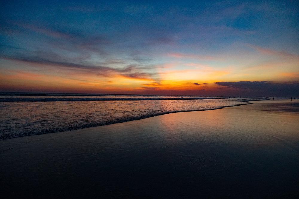 10. Sunset at Seminyak Beach, Bali