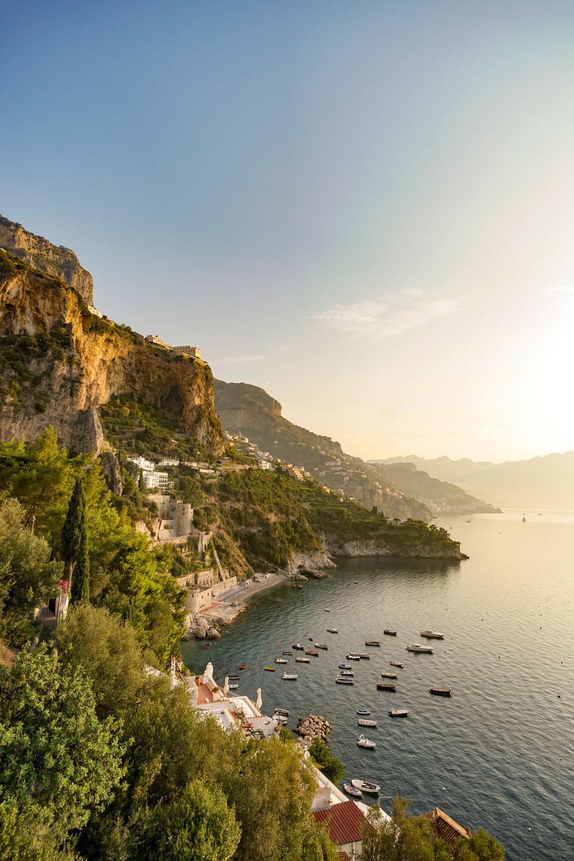 9. Sunrise over Amalfi Coast