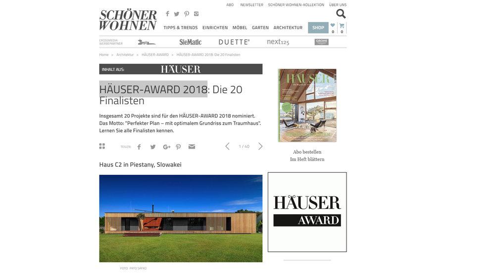 HÄUSER-AWARD 2018