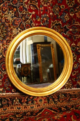 Renaissance Antique Dublin ireland gilt mirror sm007