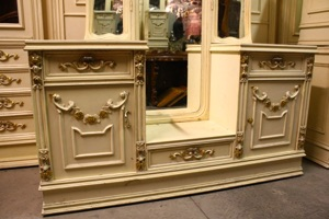 Renaissance Antiques Dublin Ireland old painted white dressing table