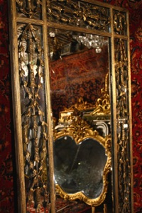 Renaissance Antique Dublin Ireland METAL FRAMED MIRROR