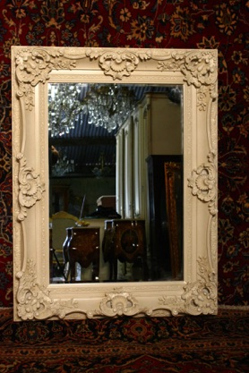 Renaissance Antique Dublin Ireland CREAM MIRROR
