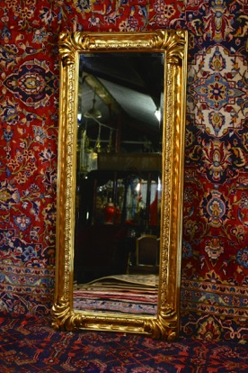 Renaissance Antique Dublin Ireland GILT FULL LENGTH MIRROR