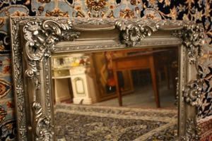 Renaissance Antique Dublin Ireland SILVER FRAMED MIRROR