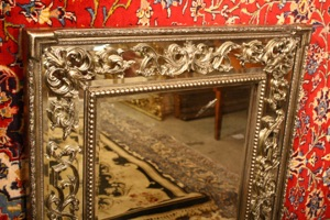 Renaissance Antique Dublin Ireland DOUBLE FRAMED MIRROR IN SILVER AND GOLD