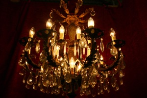 Renaissance Antique Dublin Ireland DARK OLD CHANDELIER
