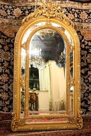 LARGE DOUBLE FRAMED MIRROR WITH IVORY FINISH — RENAISSANCE