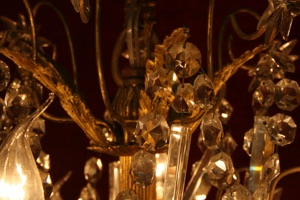 Renaissance Antique Dublin Ireland ANTIQUE CRYSTAL CHANDELIER FROM CIRCA.1880