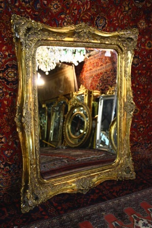 Large Heavyly Moulded Antique Finished Mirror