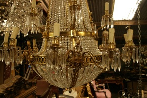 Renaissance Antique Dublin Ireland GREAT QUALITY LARGE CHANDELIER