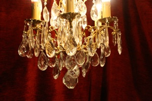 Renaissance Antique Dublin Ireland GREAT LITTLE CHANDELIER