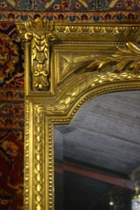 Renaissance Antique Dublin Ireland VARY LARGE SOLID WOOD MIRROR