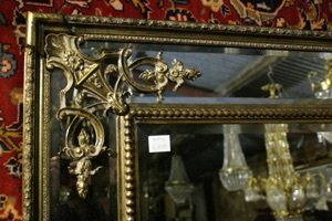 Renaissance Antique Dublin Ireland TALL DOUBLE FRAMED MIRROR