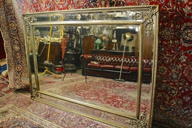 Renaissance Antique Dublin Ireland VERY LARGE DOUBLE FRAMED MIRROR