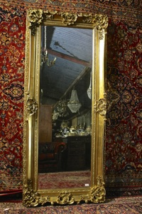 Renaissance Antique Dublin Ireland TALL FULL LENGHT MIRROR WITH NICE HEAVY MOULDING