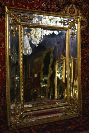 Renaissance Antique Dublin Ireland VERY NICE DOUBLE FRAMED MIRROR