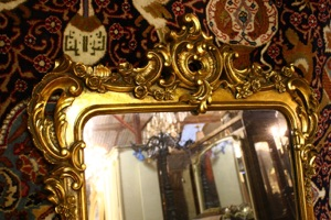 Renaissance Antique Dublin Ireland CARVED WOOD OVERMANTLE MIRROR