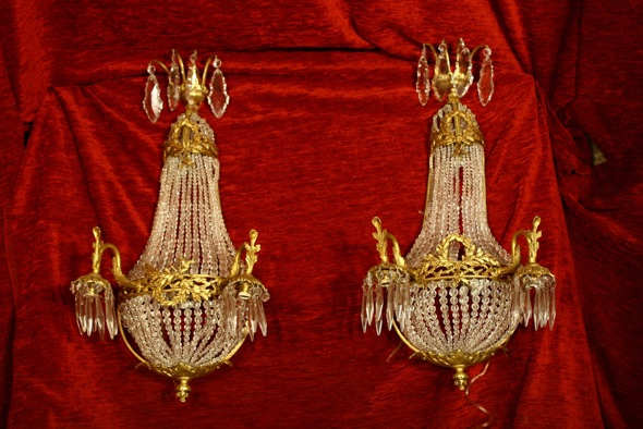 Renaissance Antique Dublin Ireland Large nice quality wall lights