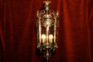 Renaissance Antique Dublin Ireland SOLD BRASS MEDIUM CHROMED LANTERN