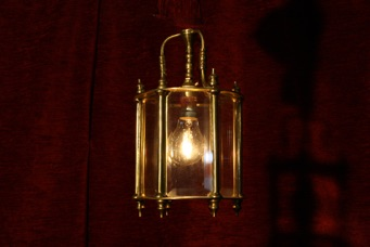 Renaissance Antique Dublin Ireland SMALL SOLD BRASS LANTERN