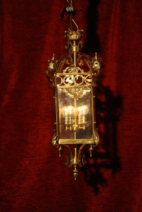 Renaissance Antique Dublin Ireland SOLID BRASS SQUARE LANTERN