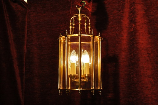 Renaissance Antique Dublin HEAVY SOLD BRASS SECTIONED LANTERN