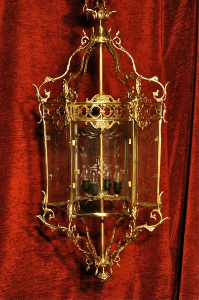 Renaissance Antique Dublin LARGE LIGHT FRAMED LANTERN