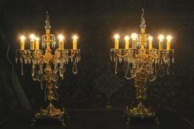 Renaissance Antique Dublin Ireland Electrified candelabra