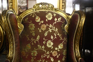 Renaissance Antiques Dublin Ireland NICE QUALITY GILT WINGBACK CHAIR