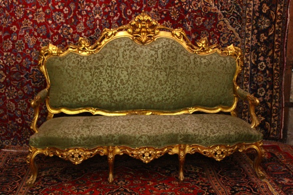 Renaissance Antiques Dublin Ireland OLD GILT SALON 3 SEATER AND TWO CHAIRS
