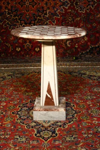 Renaissance Antique Dublin Ireland MARBLE CHESS TABLE