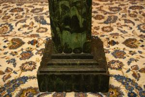 Renaissance Antique Dublin Ireland Green marble pillar