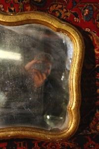 Renaissance Antiques Dublin Ireland  Old gilt framed mirror probably 1930'