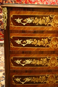 Renaissance Antique Dublin Ireland INLAID CHEST OF DRAWERS