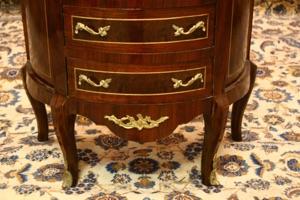 Renaissance Antique Dublin Ireland Semi circular inlaid chest of drawers