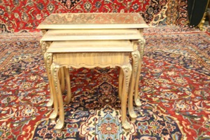 Renaissance Antique Dublin Ireland Nest of three tables