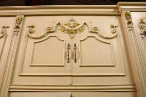 Renaissance Antiques Dublin Ireland Old painted white/cream large wardrobe in good condition