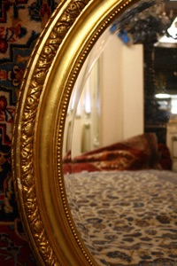 Gilt oval mirrorRenaissance Antique dublin ireland