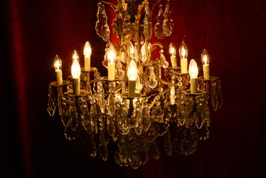 Renaissance Antique Dublin Ireland FINE LARGE  CRYSTAL CHANDELIER