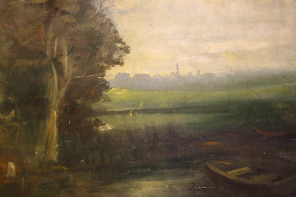 Renaissance Antique Dublin Ireland Large oil on canvas painting
