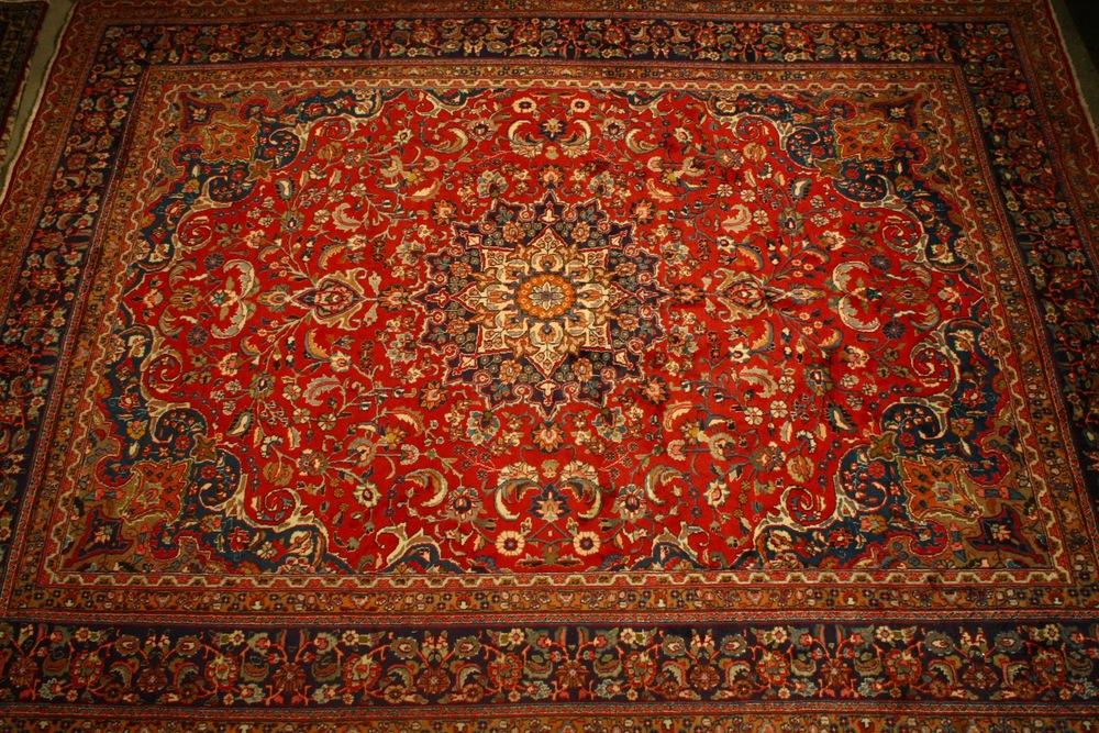 Renaissance Antique Dublin Ireland Large hand knotted persian carpet