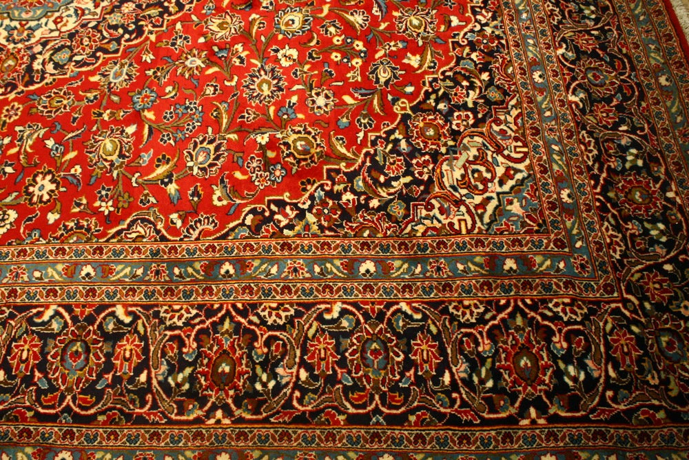 Renaissance Antique Dublin Ireland Hand knotted wool Kashan Persian carpet