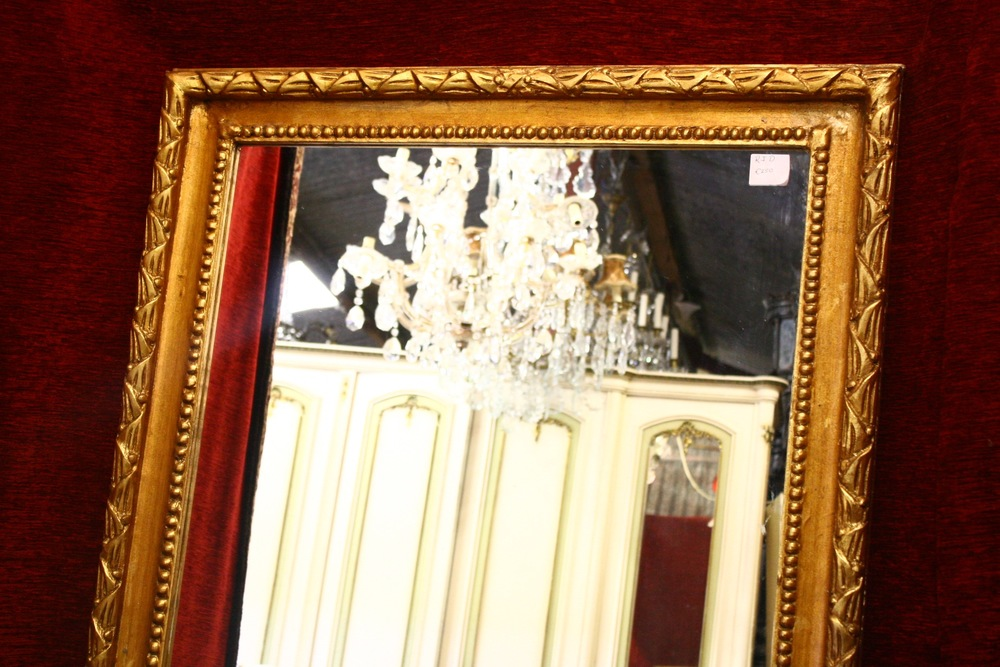 Renaissance Antique Dublin Ireland Large rectangular mirror