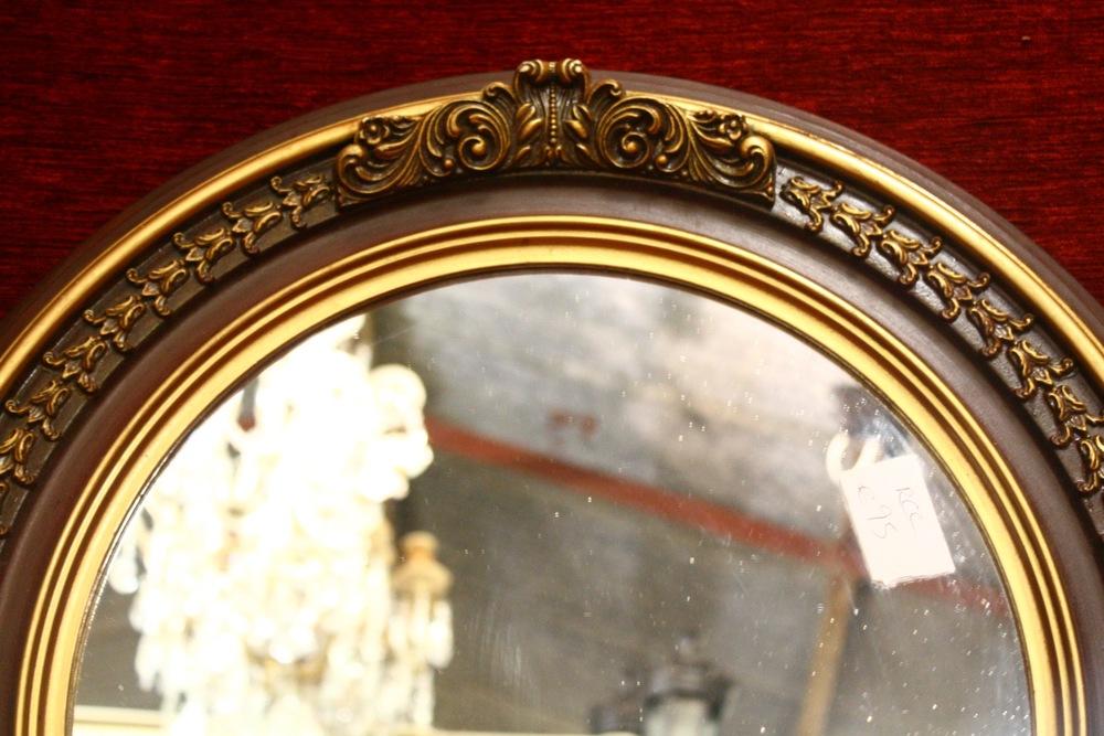 Renaissance Antique Dublin Ireland Small round gilt mirrors