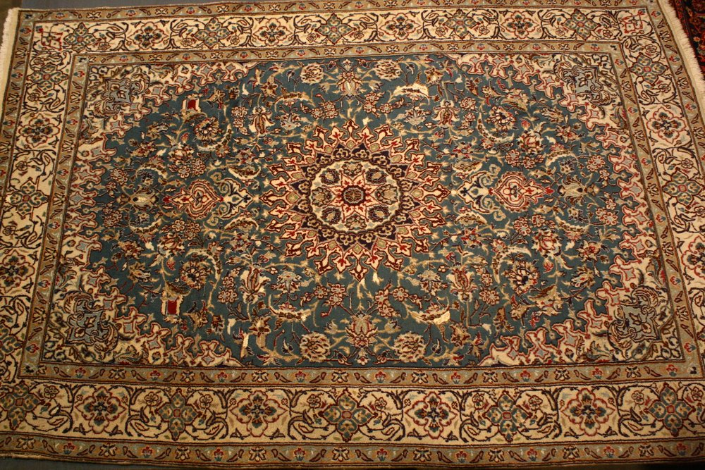 Renaissance Antique Dublin Ireland Hand knotted Persian mashad carpet